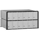 Salsbury Industries 2212 Aluminum Mailbox - 12 Doors - Rack Ladder System