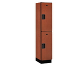 Salsbury Industries 22168CHE Extra Wide Designer Wood Locker - Double Tier - 1 Wide - 6 Feet High - 18 Inches Deep - Cherry