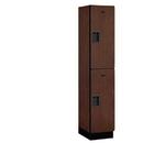 Salsbury Industries 22168MAH Extra Wide Designer Wood Locker - Double Tier - 1 Wide - 6 Feet High - 18 Inches Deep - Mahogany