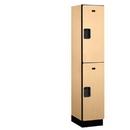 Salsbury Industries 22168MAP Extra Wide Designer Wood Locker - Double Tier - 1 Wide - 6 Feet High - 18 Inches Deep - Maple