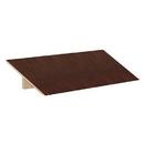Salsbury Industries 22253MAH Sloping Hood - for 18 Inch Deep Extra Wide Designer Wood Locker - 3 Wide - Mahogany
