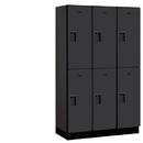 Salsbury Industries 22368BLK Extra Wide Designer Wood Locker - Double Tier - 3 Wide - 6 Feet High - 18 Inches Deep - Black