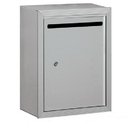 Salsbury Industries 2240AP Letter Box (Includes Commercial Lock) - Standard - Surface Mounted - Aluminum - Private Access