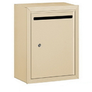 Salsbury Industries 2240SP Letter Box (Includes Commercial Lock) - Standard - Surface Mounted - Sandstone - Private Access