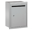 Salsbury Industries 2245AP Letter Box (Includes Commercial Lock) - Standard - Recessed Mounted - Aluminum - Private Access