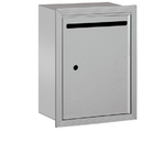 Salsbury Industries 2245AU Letter Box - Standard - Recessed Mounted - Aluminum - USPS Access