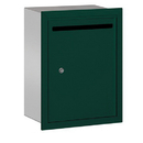 Salsbury Industries 2245GP Letter Box (Includes Commercial Lock) - Standard - Recessed Mounted - Green - Private Access