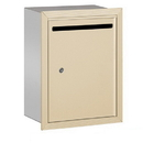 Salsbury Industries 2245SP Letter Box (Includes Commercial Lock) - Standard - Recessed Mounted - Sandstone - Private Access