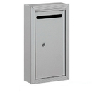 Salsbury Industries 2260AP Letter Box (Includes Commercial Lock) - Slim - Surface Mounted - Aluminum - Private Access