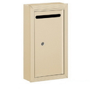 Salsbury Industries 2260SP Letter Box (Includes Commercial Lock) - Slim - Surface Mounted - Sandstone - Private Access