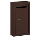 Salsbury Industries 2260ZP Letter Box (Includes Commercial Lock) - Slim - Surface Mounted - Bronze - Private Access