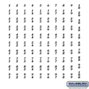 Salsbury Industries Numbers - Self Adhesive Sheet of (100) for Aluminum Mailboxes