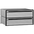 Salsbury Industries 2402 Data Distribution System Aluminum Box - 2 Doors