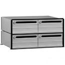 Salsbury Industries 2404 Data Distribution System Aluminum Box - 4 Doors