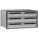 Salsbury Industries 2406 Data Distribution System Aluminum Box - 6 Doors