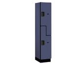 Salsbury Industries 27168BLU Extra Wide Designer Wood Locker - Double Tier S Style - 1 Wide - 6 Feet High - 18 Inches Deep - Blue