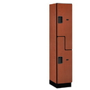 Salsbury Industries 27168CHE Extra Wide Designer Wood Locker - Double Tier S Style - 1 Wide - 6 Feet High - 18 Inches Deep - Cherry