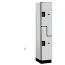 Salsbury Industries 27168GRY Extra Wide Designer Wood Locker - Double Tier S Style - 1 Wide - 6 Feet High - 18 Inches Deep - Gray