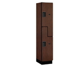 Salsbury Industries 27168MAH Extra Wide Designer Wood Locker - Double Tier S Style - 1 Wide - 6 Feet High - 18 Inches Deep - Mahogany