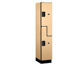 Salsbury Industries 27168MAP Extra Wide Designer Wood Locker - Double Tier S Style - 1 Wide - 6 Feet High - 18 Inches Deep - Maple