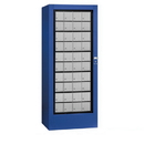 Salsbury Industries 3100BLP Rotary Mail Center (Includes Master Commercial Lock) - Aluminum Style - Blue - Private Access