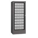 Salsbury Industries 3100SLU Rotary Mail Center - Aluminum Style - Slate - USPS Access