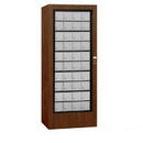 Salsbury Industries 3100WAP Rotary Mail Center (Includes Master Commercial Lock) - Aluminum Style - Walnut - Private Access