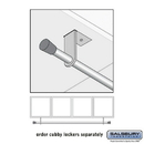 Salsbury Industries 31088 Coat Rod - for Wood Cubbies - Silver
