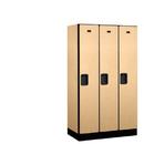 Salsbury Industries 31358MAP Designer Wood Locker - Single Tier - 3 Wide - 5 Feet High - 18 Inches Deep - Maple