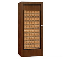 Salsbury Industries 3150WAP Rotary Mail Center (Includes Master Commercial Lock) - Brass Style - Walnut - Private Access