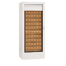 Salsbury Industries 3150WHP Rotary Mail Center (Includes Master Commercial Lock) - Brass Style - White - Private Access
