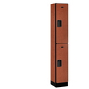 Salsbury Industries 32165CHE Designer Wood Locker - Double Tier - 1 Wide - 6 Feet High - 15 Inches Deep - Cherry