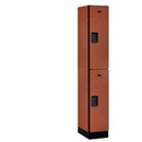 Salsbury Industries 32168CHE Designer Wood Locker - Double Tier - 1 Wide - 6 Feet High - 18 Inches Deep - Cherry
