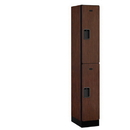 Salsbury Industries 32168MAH Designer Wood Locker - Double Tier - 1 Wide - 6 Feet High - 18 Inches Deep - Mahogany