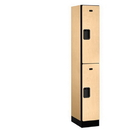 Salsbury Industries 32168MAP Designer Wood Locker - Double Tier - 1 Wide - 6 Feet High - 18 Inches Deep - Maple