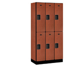 Salsbury Industries 32368CHE Designer Wood Locker - Double Tier - 3 Wide - 6 Feet High - 18 Inches Deep - Cherry
