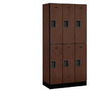 Salsbury Industries 32368MAH Designer Wood Locker - Double Tier - 3 Wide - 6 Feet High - 18 Inches Deep - Mahogany