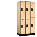 Salsbury Industries 32368MAP Designer Wood Locker - Double Tier - 3 Wide - 6 Feet High - 18 Inches Deep - Maple