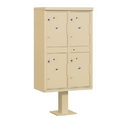 Salsbury Industries Outdoor Parcel Locker (Includes Pedestal) - 4 Compartments - USPS Access