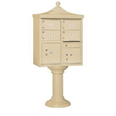 Salsbury Industries Regency Decorative CBU (Includes Pedestal, CBU Top and Pedestal Cover - Tall and Master Commercial Locks) - 4 C Size Doors - Type V - Private Access