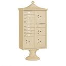 Salsbury Industries Regency Decorative CBU (Includes Pedestal, CBU Top and Pedestal Cover - Short) - 8 A Size Doors - Type VI - USPS Access