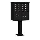 Salsbury Industries 3308BLK-U Cluster Box Unit (Includes Pedestal) - 8 A Size Doors - Type I - Black - USPS Access
