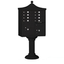 Salsbury Industries 3308R-BLK-P Regency Decorative CBU (Includes CBU, Pedestal, CBU Top, Pedestal Cover - Tall and Master Commercial Locks) - 8 A Size Doors - Type I - Black - Private Access