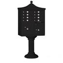 Salsbury Industries 3308R-BLK-U Regency Decorative CBU (Includes CBU, Pedestal, CBU Top and Pedestal Cover - Tall) - 8 A Size Doors - Type I - Black - USPS Access
