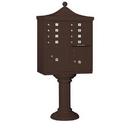 Salsbury Industries 3308R-BRZ-U Regency Decorative CBU (Includes CBU, Pedestal, CBU Top and Pedestal Cover - Tall) - 8 A Size Doors - Type I - Bronze - USPS Access