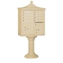 Salsbury Industries 3308R-SAN-U Regency Decorative CBU (Includes CBU, Pedestal, CBU Top and Pedestal Cover - Tall) - 8 A Size Doors - Type I - Sandstone - USPS Access