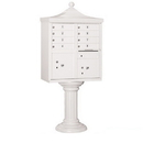 Salsbury Industries 3308R-WHT-P Regency Decorative CBU (Includes CBU, Pedestal, CBU Top, Pedestal Cover - Tall and Master Commercial Locks) - 8 A Size Doors - Type I - White - Private Access