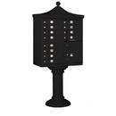 Salsbury Industries 3312R-BLK-P Regency Decorative CBU (Includes CBU, Pedestal, CBU Top, Pedestal Cover - Tall and Master Commercial Locks) - 12 A Size Doors - Type II - Black - Private Access