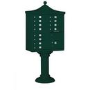 Salsbury Industries 3312R-GRN-U Regency Decorative CBU (Includes CBU, Pedestal, CBU Top and Pedestal Cover - Tall) - 12 A Size Doors - Type II - Green - USPS Access