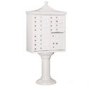 Salsbury Industries 3312R-WHT-U Regency Decorative CBU (Includes CBU, Pedestal, CBU Top and Pedestal Cover - Tall) - 12 A Size Doors - Type II - White - USPS Access